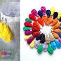 Textilfülbevaló - csepp alakú - napsárga, Ékszer, óra, Fülbevaló, Puha, csepp alakú fülbevaló textilből készítve.   Hossza kb 4-5cm + nikkelmentes szerelék.  Kérhető ..., Meska