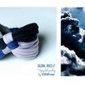 DIAGONAL - textil karkötő, acélkék/fekete/szürke, Új karkötőkollekció, amely a DIAGONAL névre h...