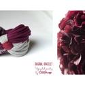 DIAGONAL - textil karkötő, szürke/bordó, Új karkötőkollekció, amely a DIAGONAL névre h...