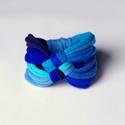 DIAGONAL - textil karkötő, kék, Új karkötőkollekció, amely a DIAGONAL névre h...