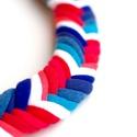 Tengerész Fishbone nyaklánc - kék/piros/fehér (cirrhopp) - Meska.hu