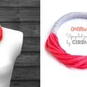 Lazac/szürke sokszálas, textil ONLYTWO nyaklánc, Csak két szín - sokszálas BAsic textilnyaklánc...