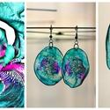 Plabodot Dandelion fülbevaló - türkiz/lila, Ékszer, óra, Fülbevaló, Kb 4 cm átmérőjű (plusz nikkelmentes szerelék), kör alakú, pillesúlyú, PETpalack fülbevaló pontozott..., Meska