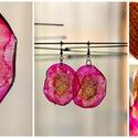 Plabodot Dandelion fülbevaló - narancs/pink/lila, Ékszer, óra, Fülbevaló, Kb 5 cm átmérőjű (plusz nikkelmentes szerelék), kör alakú, pillesúlyú, PETpalack fülbevaló pontozott..., Meska