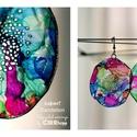 Plabodot Dandelion fülbevaló - színes2, Kb 6 cm átmérőjű (plusz nikkelmentes szerelék...