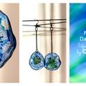 Plabodot  fülbevaló - kék/zöld, Ékszer, Fülbevaló, Kb 4 cm átmérőjű (plusz nikkelmentes réz színű szerelék így összesen 10cm hosszú a fülbevaló), kör a..., Meska