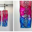 Plabodot  fülbevaló - hosszúkás - pink/kék, Ékszer, Fülbevaló, Ékszerkészítés, Újrahasznosított alapanyagból készült termékek, 6*2cm hosszú (plusz nikkelmentes szerelék), téglalap alakú, pillesúlyú, PETpalack fülbevaló pontozo..., Meska