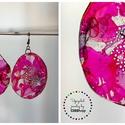 Plabodot Dandelion pillepalack-fülbevaló - pink, Ékszer, Fülbevaló, Kb 5 cm átmérőjű (plusz nikkelmentes szerelék), kör alakú, pillesúlyú, PETpalack fülbevaló pontozott..., Meska