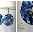 Plabodot Dandelion pillepalack-fülbevaló - kékek, Ékszer, Fülbevaló, Kb 5 cm átmérőjű (plusz nikkelmentes szerelék), kör alakú, pillesúlyú, PETpalack fülbevaló pontozott..., Meska