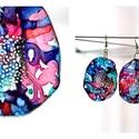 Plabodot Dandelion pillepalack-fülbevaló - kék/piros/zöld, Ékszer, Fülbevaló, Kb 5 cm átmérőjű (plusz nikkelmentes szerelék), kör alakú, pillesúlyú, PETpalack fülbevaló pontozott..., Meska