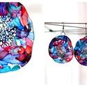 Plabodot Dandelion pillepalack-fülbevaló - kék/piros/zöld2, Ékszer, Fülbevaló, Kb 6 cm átmérőjű (plusz nikkelmentes szerelék), kör alakú, pillesúlyú, PETpalack fülbevaló pontozott..., Meska