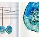 Plabodot Dandelion pillepalack-fülbevaló -türkiz/vízzöld, Ékszer, Fülbevaló, Ékszerkészítés, Újrahasznosított alapanyagból készült termékek, Kb 2,5 cm átmérőjű, 10cm hosszú (nikkelmentes szerelékkel), kör alakú, pillesúlyú, PETpalack fülbev..., Meska