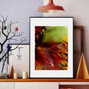 Művészi nyomat /Art print A4-es méretben - okker/bordó/lila/olajzöld FLOW, Képzőművészet, Napi festmény, kép, Festmény, Festmény vegyes technika, Kis példányszámú, A4-es méretű(!) reprodukció (20db készült belőle). Aláírt, számozott digitális nyo..., Meska
