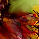 Művészi nyomat /Art print 30x40cm-es méretben - okker/bordó/lila/olajzöld FLOW, Képzőművészet, Napi festmény, kép, Festmény, Festmény vegyes technika, Kis példányszámú, 30*40cm-es méretű (!) reprodukció (20db készült belőle). Aláírt, számozott digitál..., Meska