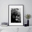 Művészi nyomat /Art print A4-es méretben - fekete/szürke  FLOW, Képzőművészet, Napi festmény, kép, Festmény, Festmény vegyes technika, Kis példányszámú A4-es méretű(!) reprodukció (20db készült belőle). Aláírt, számozott digitális nyom..., Meska