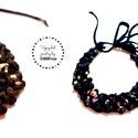 POP nyaklánc - mintás/fekete, Ékszer, Mindenmás, Nyaklánc, Egyedi textúrájú, saját fejlesztésű pop-textilből készült sokszálas, hátul megkötővel szabályozható ..., Meska