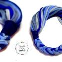 HYBRIO kék hangulatú nyaklánc, Ékszer, Nyaklánc, Lágy vonalú, pamut sál-nyaklánc (kb75cm), mely kétféleképpen hordható, attól függően hová esik a fon..., Meska