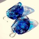 Plabodot  pillepalack-fülbevaló - kék 925-ös ezüsttel, Ékszer, Fülbevaló, Kb 5 cm átmérőjű (plusz 925-ös ezüst szerelék szerelék), kör alakú, pillesúlyú, PETpalack fülbevaló ..., Meska