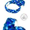 TRIBEQUA - vékony kék textil karkötő, 2db , Ékszer, Karkötő, Textilkarkötők élénk színekben, lágy vonalakkal. Tengerészkék és náégy további kék árnyalat. Széless..., Meska
