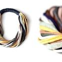 ONLYTWO  textil, sokszálas nyaklánc - földszínek/éjkék/mustár, Csak két szín - sokszálas BAsic textilnyaklánc...