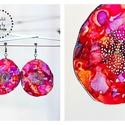 Plabodot Dandelion pillepalack-fülbevaló - lila/piros/narancs, Ékszer, Fülbevaló, Kb 5,5cm átmérőjű (plusz nikkelmentes szerelék),  pillesúlyú, PETpalack fülbevaló pontozott mintázat..., Meska