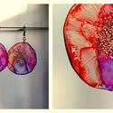 Plabodot Dandelion pillepalack-fülbevaló - pink/lila/narancs, Ékszer, Fülbevaló, Kb 5cm átmérőjű (plusz nikkelmentes szerelék),  pillesúlyú, PETpalack fülbevaló pontozott mintázatta..., Meska