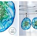 Plabodot Dandelion pillepalack-fülbevaló - kék/zöld, Ékszer, Fülbevaló, Kb 6cm átmérőjű (plusz nikkelmentes szerelék),  pillesúlyú, PETpalack fülbevaló pontozott mintázatta..., Meska