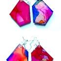 """Plabodot FLOW """"smallorangedots"""" - S"""" fülbevaló, Ékszer, Fülbevaló, A kézzel készített nikkelmentes szerelékkel felruházott, festett, geometrikus alakú fülbevaló a Flow..., Meska"""