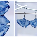 Plabodot Ginkgo pillepalack-fülbevaló - kék, Ékszer, Fülbevaló, Kb 4*5cm-es (plusz nikkelmentes szerelék), ginkgo levél formájú, pillesúlyú, PETpalack fülbevaló pon..., Meska