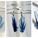 Plabodot PLY origami pillepalack-fülbevaló - kék, Ékszer, Fülbevaló, Kb 4*7cm-es (plusz nikkelmentes szerelék), origami levél formájú, hajtogatott, pillesúlyú, PETpalack..., Meska
