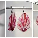 Plabodot PLY origami pillepalack-fülbevaló - Piros/pink, Ékszer, Fülbevaló, Kb 6*3,5cm-es (plusz nikkelmentes szerelék), origami levél formájú, hajtogatott, pillesúlyú, PETpala..., Meska