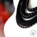 Sokszálas  BASIC nyaklánc - csíkos, fekete, Ékszer, Nyaklánc, Sokszálas nyaklánc kizárólag textilből készítve. Nem tartalmaz allergén anyagokat.  Hossza állítható..., Meska