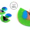 Plabodot FUSION fülbevaló - zöld, kétrészes, A nikkelmentes szerelékkel felruházott, önkezű...