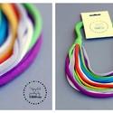 Sokszálas BASIC nyaklánc - tarka/zöld, Ékszer, Nyaklánc, Sokszálas nyaklánc kizárólag textilből készítve. Nem tartalmaz allergén anyagokat.  Hossza kb 65 cm,..., Meska