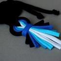 LOOG -X - medálos textilnyaklánc, fekete/kék, Loog-X nyaklánc Gabinak a kért színekben. Élet...
