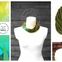 Tribequa gyűrűs sokszálas nyaklánc - zöld, Ékszer, Nyaklánc, Sokszálas textilnyaklánc, puha, meleg pulóver-anyagból Tribequa gyűrűvel díszítve. Nincs benne fém. ..., Meska