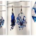 Plabodot Origami fülbevaló - kék, Ékszer, Fülbevaló, PET palackból kézzel készített, hajtogatott és festett PLABODOT fülbevaló nikkelmentes szerelékkel. ..., Meska