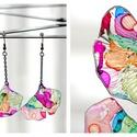 Plabodot Ginkgo fülbevaló - tarka 1, Ékszer, Fülbevaló, PET palackból kézzel készített és festett PLABODOT  fülbevaló nikkelmentes szerelékkel. Méret: kb 4*..., Meska