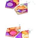 Plabodot FLOW 20. - M-es fülbevaló, Ékszer, Fülbevaló, A nikkelmentes szerelékkel felruházott, festett, geometrikus alakú fülbevaló a Flow élmény jegyében ..., Meska