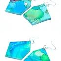 Plabodot FLOW 23. - L-es fülbevaló, Ékszer, Fülbevaló, A kézzel készített, nikkelmentes szerelékkel felruházott, festett, geometrikus alakú fülbevaló a Flo..., Meska