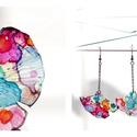 Plabodot Ginkgo fülbevaló - tarka, Ékszer, Fülbevaló, PET palackból kézzel készített és festett PLABODOT Ginkgo levél alakú fülbevaló nikkelmentes szerelé..., Meska