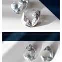Plabodot Szirén bedugós fülbevaló - ezüst, csepp, Ékszer, Fülbevaló, Kb 3,5*3cm-es, bedugós, pillesúlyú, PETpalack fülbevaló pöttyözött mintázattal, selymes fényű, ezüst..., Meska