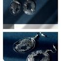 Plabodot fülbevaló - áttetsző, Ékszer, Fülbevaló, PET palackból kézzel készített, pontozott PLABODOT fülbevaló nikkelmentes szerelékkel. Átmérő: Kb 4,..., Meska