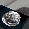 Plabodot Underwater bross - ezüst, Ékszer, Bross, kitűző, kb 6*5cm-es, selymes ezüst festékkel festett, pillekönnyű bross, az Underwater kollekció tagja.    E..., Meska