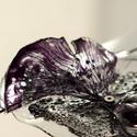 Plabodot Underwater bross - fekete/ezüst, Ékszer, Bross, kitűző, Ékszerkészítés, Újrahasznosított alapanyagból készült termékek, Medúzák, vízinövények, iszap, titkok. kb 6,5*5cm-es, festett, pillekönnyű bross, az Underwater koll..., Meska