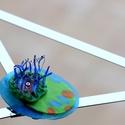 Plabodot Underwater bross - kék/zöld - HDPE fusion, Ékszer, Bross, kitűző, Ékszerkészítés, Újrahasznosított alapanyagból készült termékek, Medúzák, vízinövények, iszap, titkok. kb 6,5*5cm-es, festett, pillekönnyű bross, az Underwater koll..., Meska