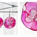 Plabodot Dandelion fülbevaló - pink, Ékszer, Fülbevaló, PET palackból kézzel készített és festett PLABODOT Dandelion fülbevaló nikkelmentes szerelékkel. Átm..., Meska