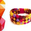 TRIBEQUA - textil karkötő, 212, Ékszer, Karkötő, Textilkarkötő puha, fonott kivitelben.  Hossza kb 16-17cm. Szélessége kb 2,5 cm.  Kérhető más színko..., Meska