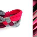 DIAGONAL - textil karkötő, 125, Ékszer, Karkötő, Új karkötőkollekció, amely a DIAGONAL névre hallgat.  Antiallergén, ahogy az a textilékszereimnél má..., Meska