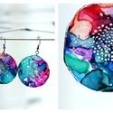 Plabodot Dandelion fülbevaló - színes, Ékszer, Fülbevaló, PET palackból kézzel készített és festett PLABODOT Dandelion fülbevaló nikkelmentes szerelékkel. Átm..., Meska